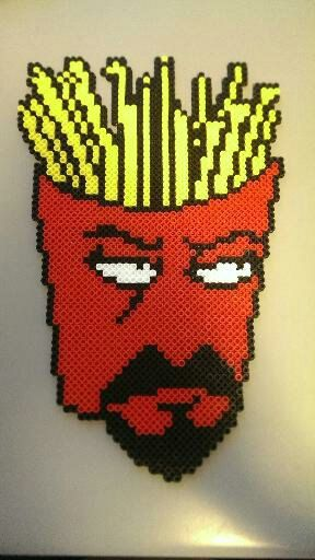 Aqua Teen Hunger Force Frylock Perler Sprite by That8bitGuyBeadArt, $15.00
