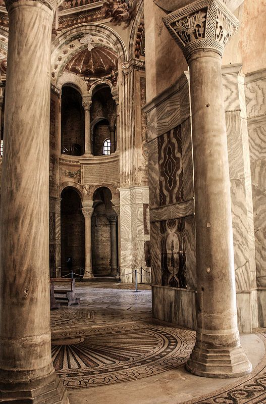 Interior of San Vitale, Ravenna, Italy #places