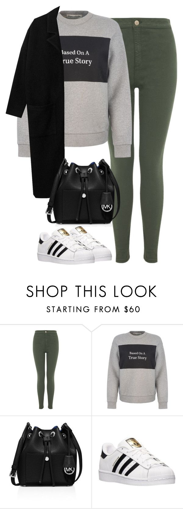 """""""Untitled #452"""" by christyandnef on Polyvore featuring Miss Selfridge, Être Cécile, MICHAEL Michael Kors, adidas, women's clothing, women, female, woman, misses and juniors"""