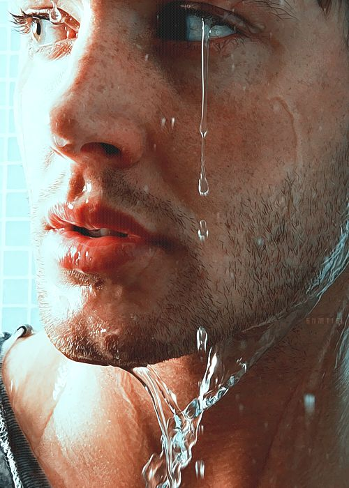 Jensen Ackles - if water were sexy, I imagine he'd drip sexy just like this!