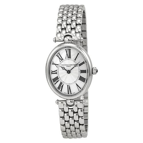 Frederique Constant Art Deco Silver Dial Black Stain Ladies Watch (W-FC-200MPW2V6B)