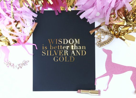 Wisdom is Better than Silver & Gold - Lauryn Hill - Lost Ones Artwork - Gold Foil