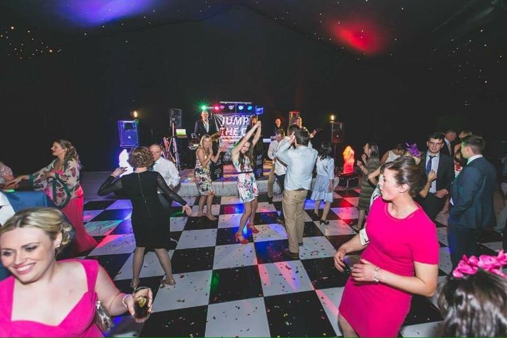 Happy dancers. Live music for weddings in the North East & North Yorkshire by Jump The Q. www.jumptheq.info