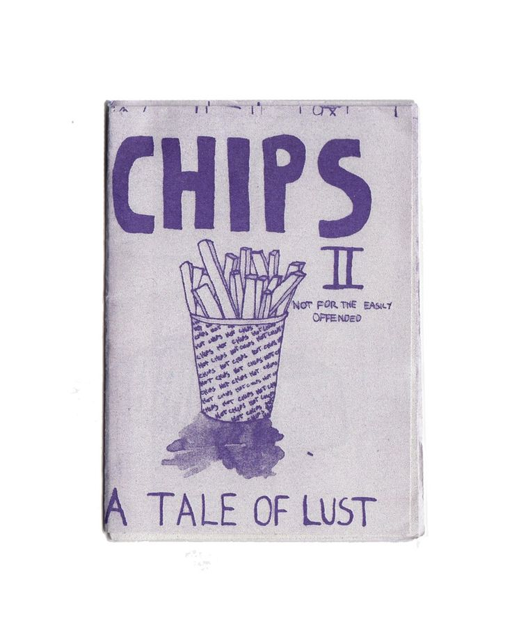Chips II zine by Hamish Storrie. Risographed at Caldera Press, Melbourne.