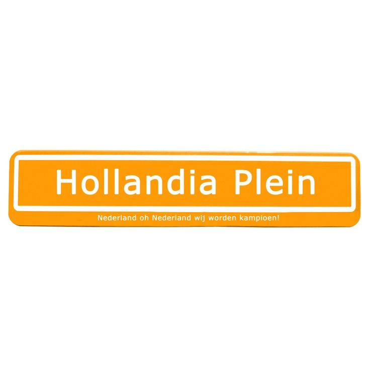 Maak je eigen straatnaambordje, nu in oranje uitvoering voor €64,95