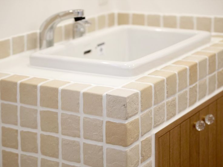 モザイクタイル/洗面/注文住宅/インテリア/ジャストの家/tile/natural/design/interior/house/homedecor