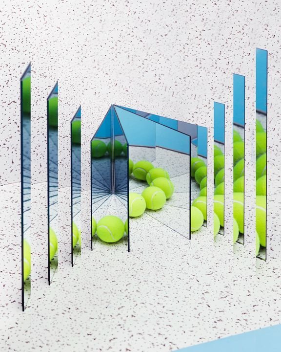 Reflections of a tennis ball