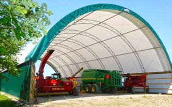 Fabric  buildings are economical and an easy way to add a building to your property. They hold up to strong winds, snow, and the elements!