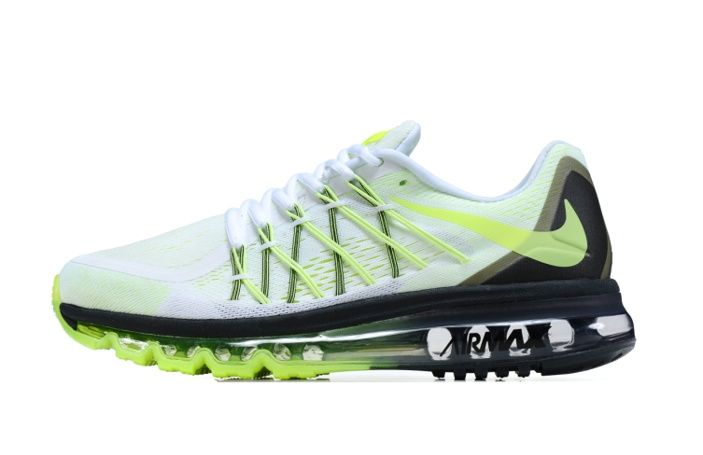 Bestellen Billig Nike Air Max 2015 Mann Schuhe Schwarz Grün Weiß Online - Beste Nike Schuhe