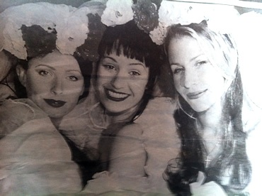 Keren Woodward, Siobhan Fahey and Sara Dallin  Filming of the video for 'Waterloo' - 1998