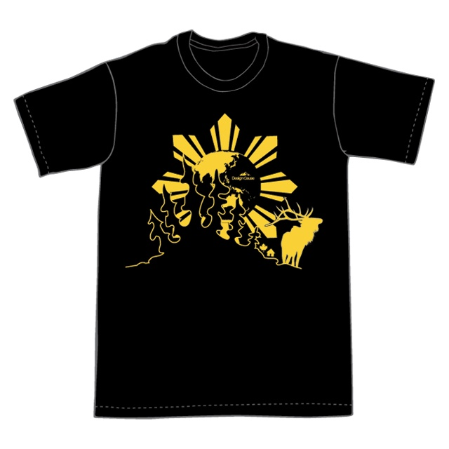 Asian Elk Sun was originally design as a team shirt for a Habitat for Humanity build in the Philippines. The concept was to merge the two cultures (Canada and the Philippines) together using elements from both sides.    http://designcause.ca/shop/asian-elk-sun/  $26