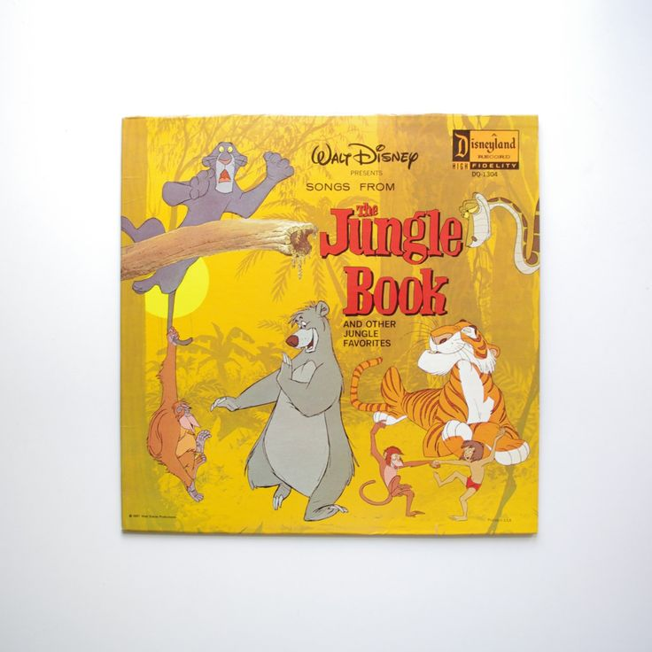 The Jungle Book Soundtrack - Disney Record - 1967 by ThisCharmingManCave on Etsy  https://www.etsy.com/listing/245558373/