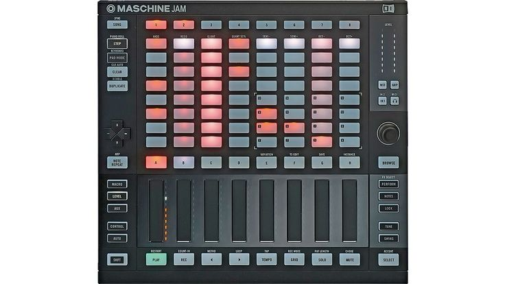 Slicker, simpler and more minimal Native Instruments Maschine Jam Controller. I'm curious how those stripes fit in live performance
