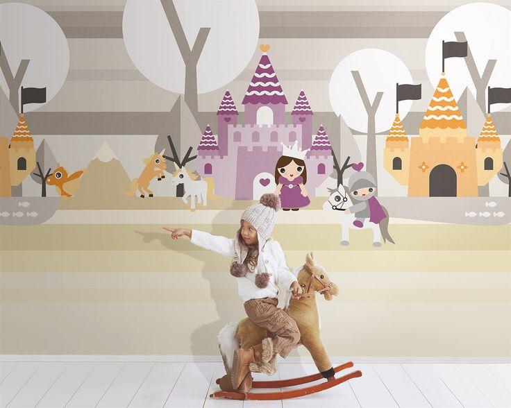 Carta da parati LONDONART | Collezione KIDS | Shirley