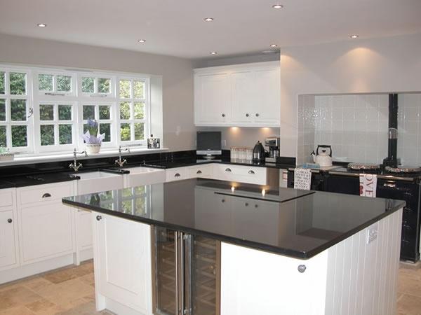 Indian Black granite kitchen worktops by County Stone Granite, West Sussex