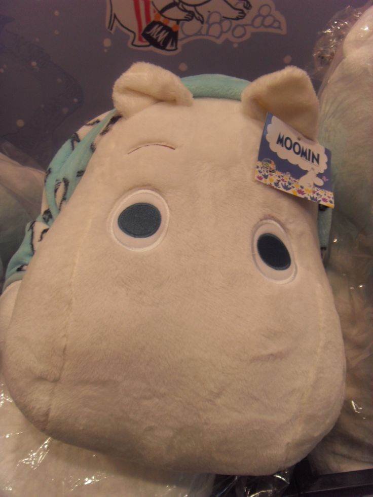 Lotte Department Store main branch Moomin popup store Moomin doll with a sky color blanket.