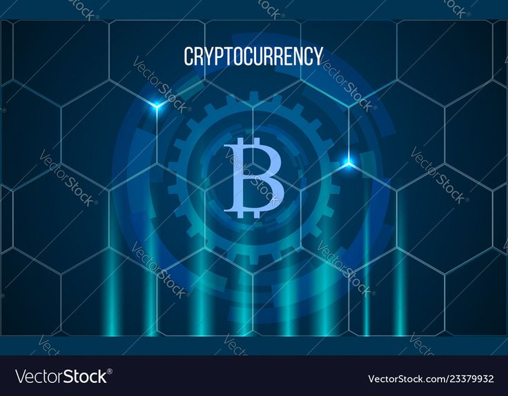 Bitcoin digital money crypto currency background Vector