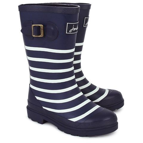 Joules Branded Stripe Wellington Boots