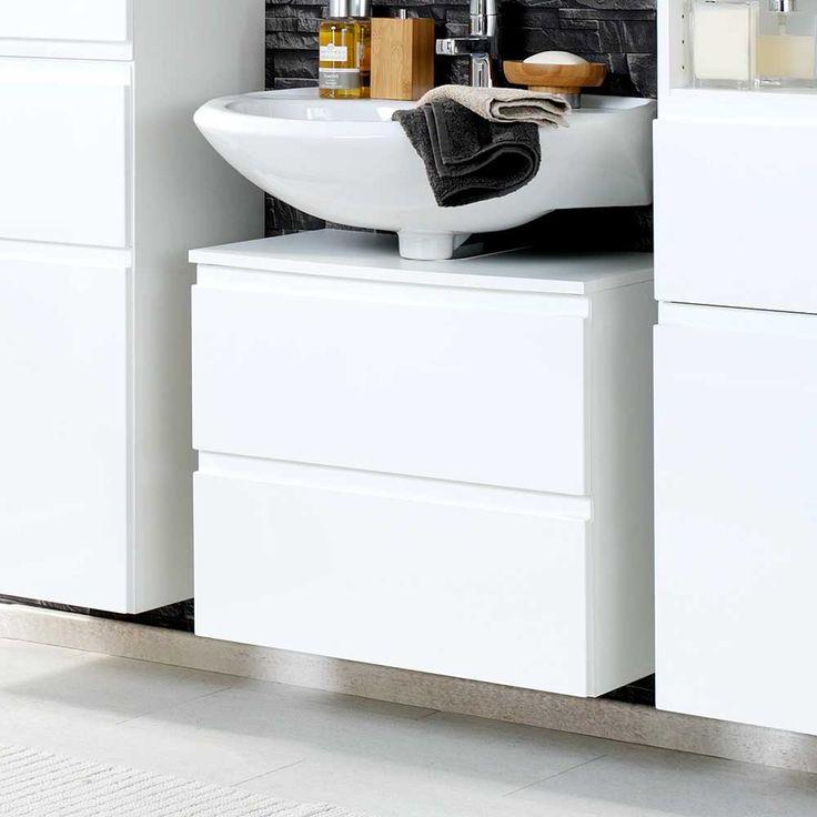 Die besten 25+ Waschbeckenunterschrank weiß hochglanz Ideen auf - badezimmer hochschrank 60 cm breit
