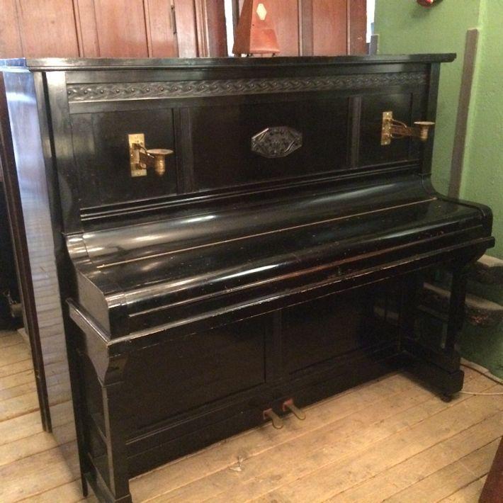 Klavier Piano Weissbrot Vintage Wandelantik 01868 Altes Weissbrod