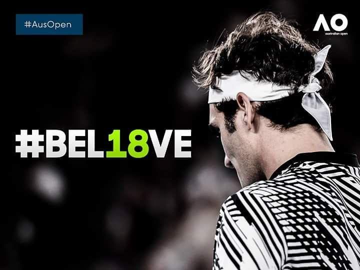 A sus pies maestro! Roger Federer se hace con su el Australian Open tras ganar en 5 sets a Rafa Nadal en una fina épica. Con este el suizo suma ya 18 grande slams...Casi nada!  #tenis #tennis #ausopen #australianopen #atp #federer #nadal  Foto: @australianopen