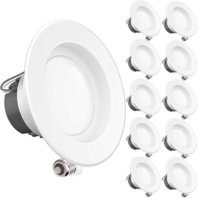 Sunco 10 Pack 11watt 4 Inch Energy Star Ul Listed Dimmable Led Downlight Retrofit Recessed Light Downlights Retrofit Recessed Lighting Recessed Lighting Kits