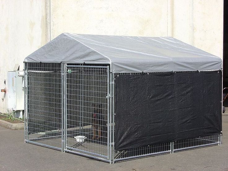 Dog Kennel Shade Wind Screen - Weather Guard Extra Large Shade Cloth with Gromme #LuckyDog