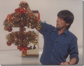 john noakes and the legendary tinsel/coat hanger Blue Peter crown. 1970's.