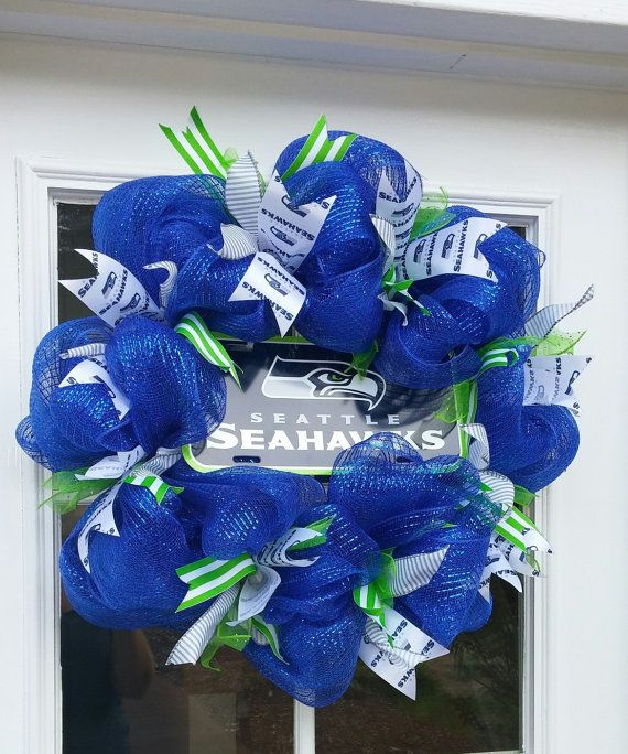 Hey, I found this really awesome Etsy listing at https://www.etsy.com/listing/248137812/seattle-seahwks-wreath
