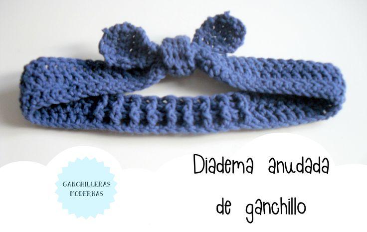 TUTORIAL / Diadema anudada de ganchillo para niña y mujer