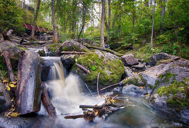 Whiteshell McGillivray Falls Trail in Manitoba Canada.