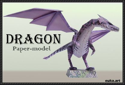 A Dragon Free Paper Model Download