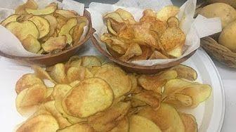 Patatine Chips Fatte in Casa, Fritte e al Forno - YouTube