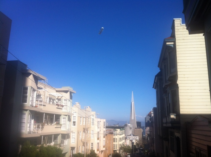 This blimp has been circling for three days now! :)