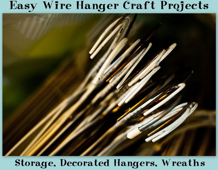 http://randomcreative.hubpages.com/hub/Easy-Wire-Coat-Hanger-Craft-Projects-Ideas