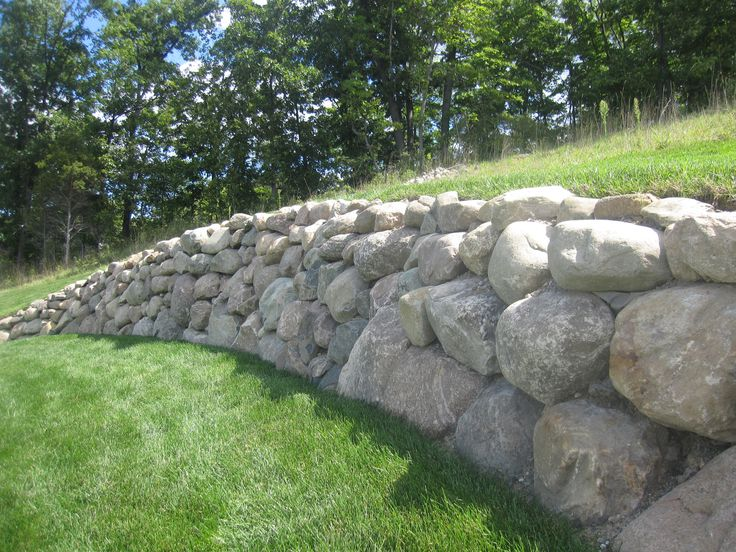 4 boulder retaining wall httpsqueezepagecreatorcomvideocreator landscaping retaining wallslandscaping designbackyard designsrock - Landscape Design Retaining Wall Ideas