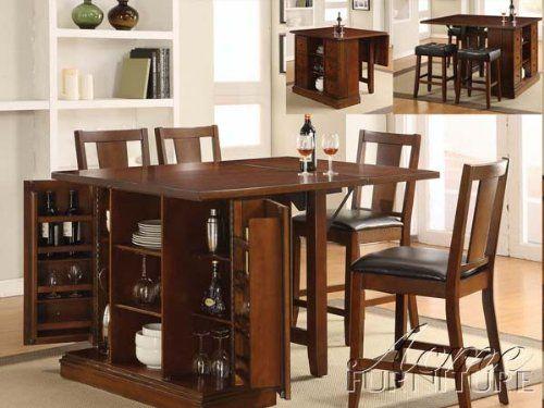 ACME Kitchen Island Counter Height Kitchen Island Table, Dark Oak Finish  ACME,http: