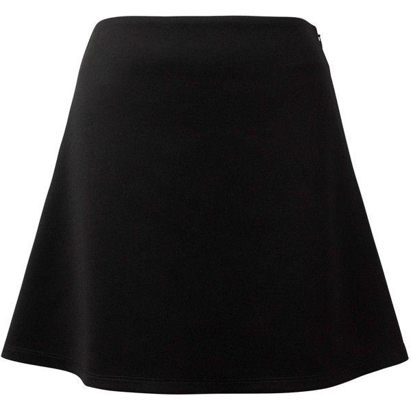Nina Verklas - Andrea Black Skater Skirt (140 NZD) ❤ liked on Polyvore featuring skirts, flared skirt, circle skirts and skater skirt