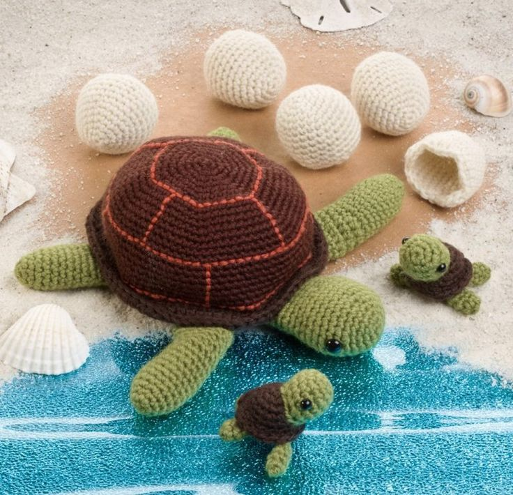 Knitted Amigurumi Sea Creatures : 17 Best images about crocheted turtles on Pinterest ...