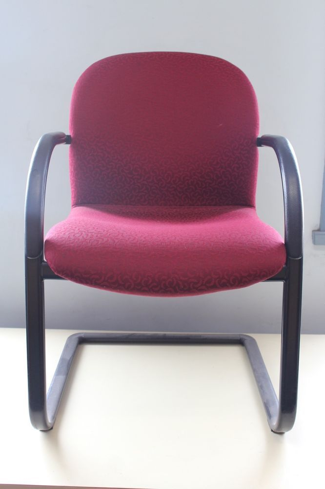 Red Fantastic Strong Visitor Client Waiting Office Chair