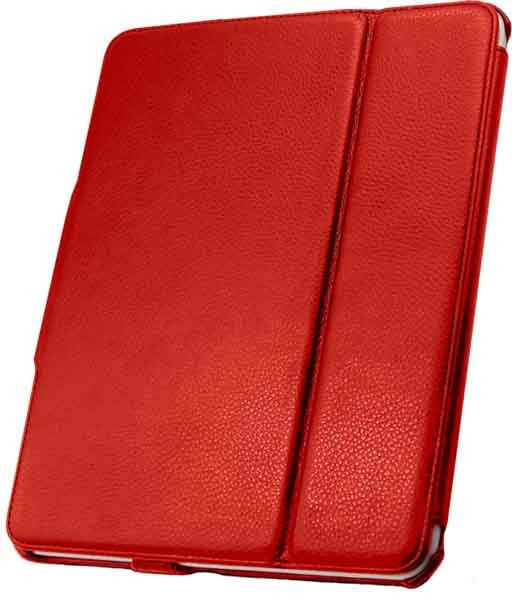 Leather Flip Book Case/Folio for Apple iPad (1st Generation) (Red)