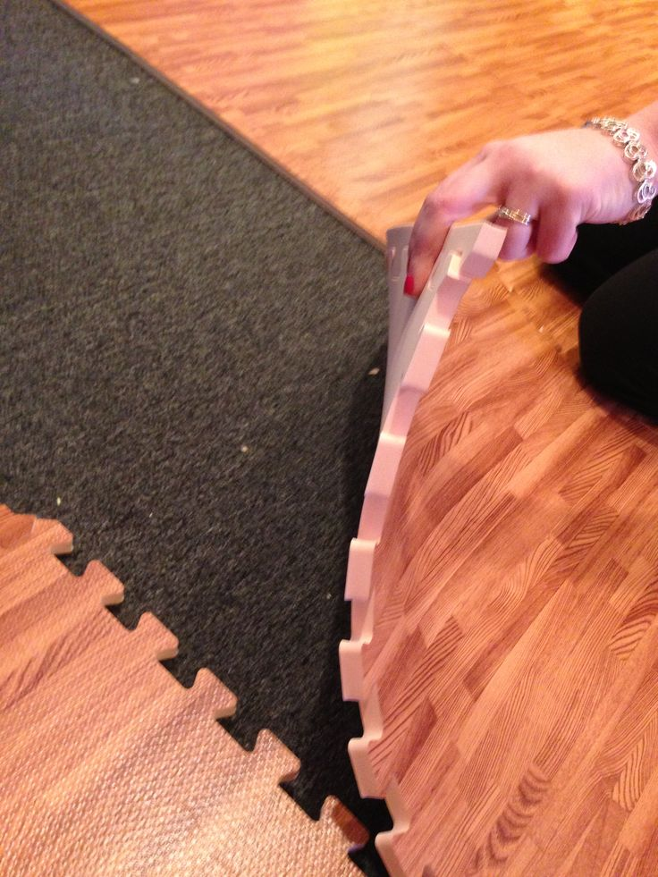 Sensory:  Use soft foam tiles for a sensory room/area floor!  The faux-wood can be more calming than l