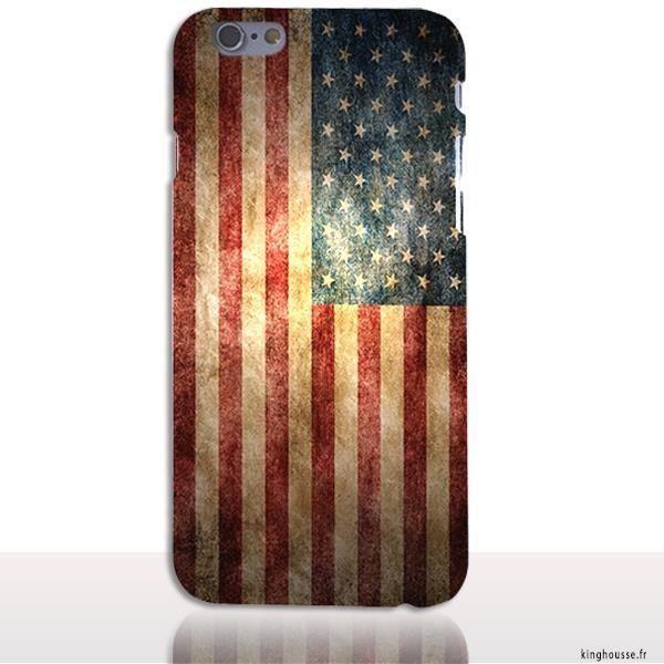 coque iphone 6 drapeau americain   Iphone 6 s plus, Iphone, Vintage