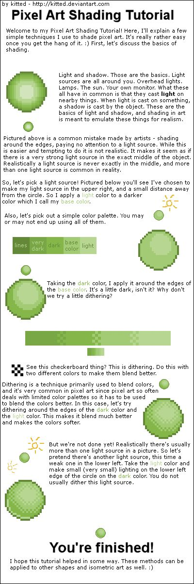 Pixel Shading Tutorial by ~kitted on deviantART