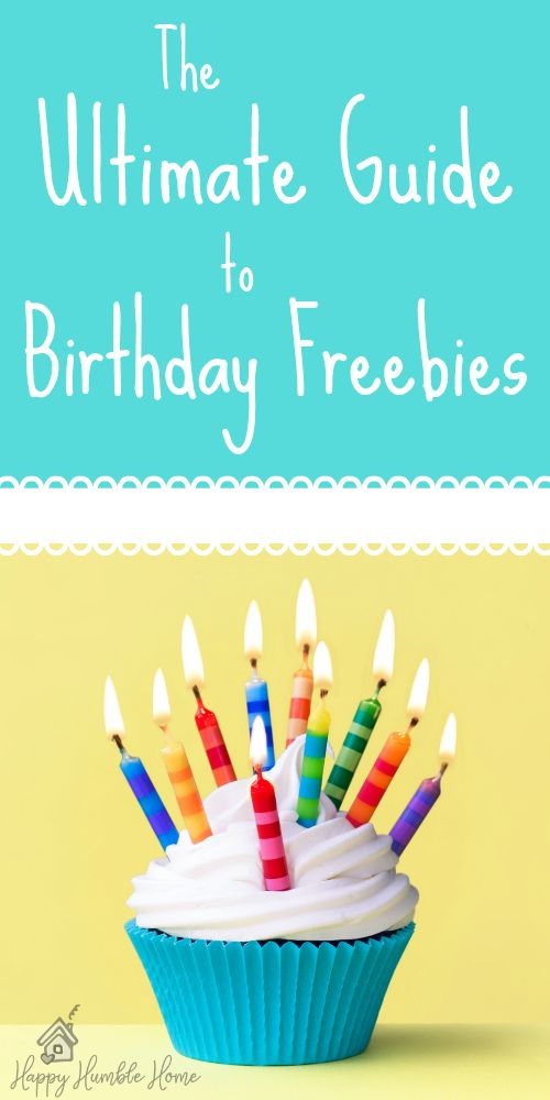 The Ultimate Guide to Birthday Freebies - Did you know you can get SO MUCH FREE STUFF for your birthday? Here is an easy 3 step guide to getting those freebies along with the 75 best places that offer free birthday deals.