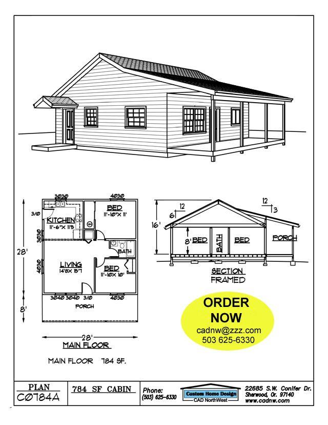 C0784a Cabin Plan Details Cabin Plans Cabin Floor Plans House Floor Plans