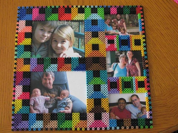 Photo frame perler beads by Rita B. Perler® | Gallery