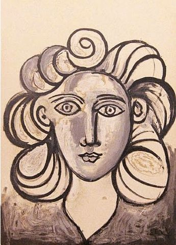 Pablo Picasso - Francoise Gilot II, 1954. Original Stone Lithography.