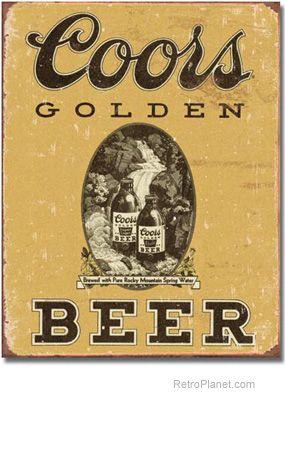 Coors Golden Vintage Sign