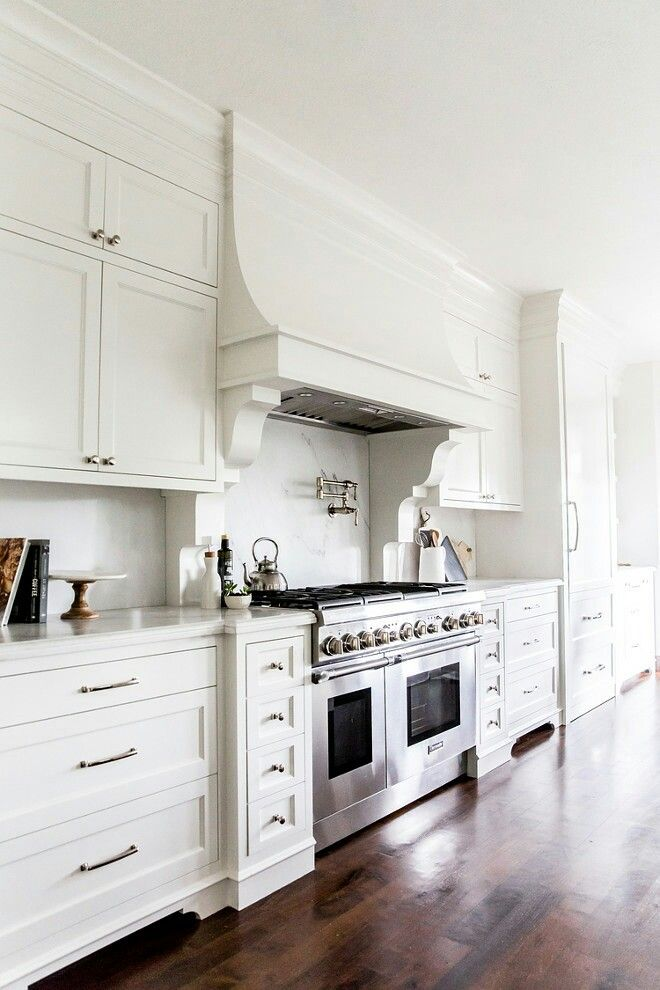 French Kitchen with a white hood